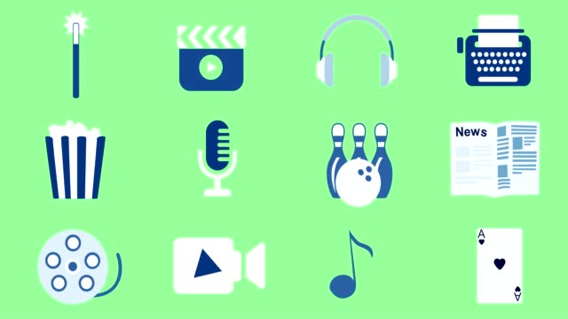 Entertainment & Media animated icons
