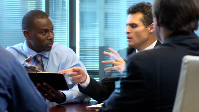 Enthusiastic Young Professional in Business Meeting video