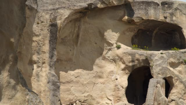 Entrance to ancient cave dwelling in medieval Uplistsikhe town