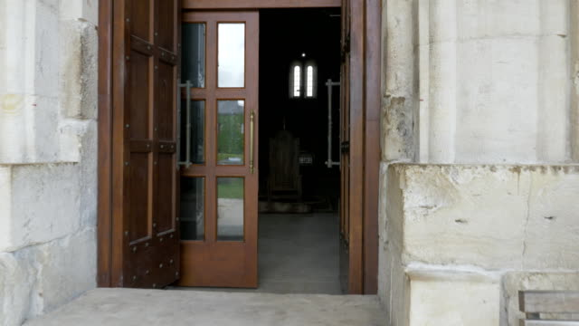 Entrance to the temple Bagrati - Georgia, Kutaisi video