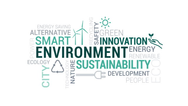 Environment and sustainability tag cloud