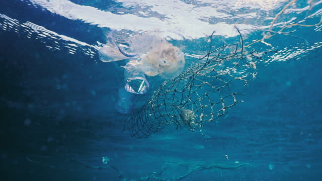 Environmental Issue Underwater Plastic in the Ocean