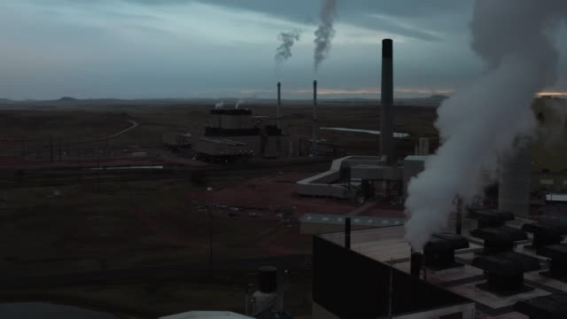 Environmental pollution, aerial view of manufacture