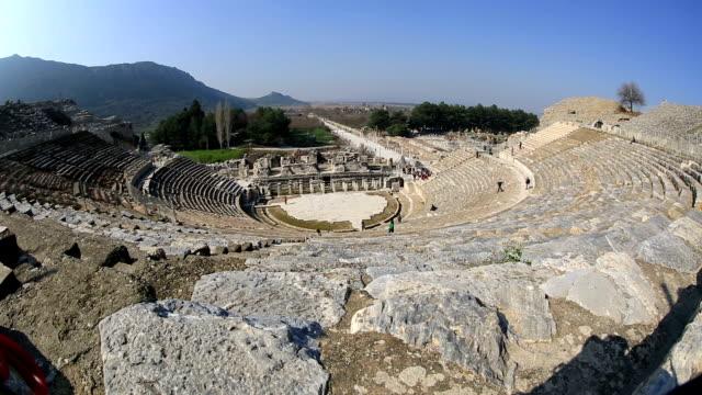 vídeos de stock, filmes e b-roll de éfeso antiga cidade de intervalo de tempo - cultura grega