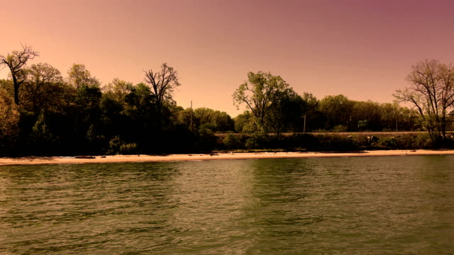 Epic Cinematic shot of a Lake Erie shore at sunrise video
