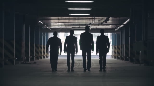 epic mafia men walking away - business suit stock videos & royalty-free footage