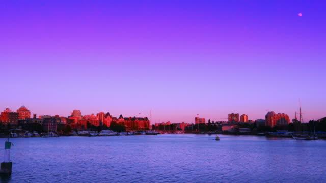 Epic Purple Sunset Time-lapse, Capital City Victoria British Columbia Canada video