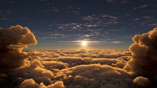 epic sunset above the clouds - god stock videos & royalty-free footage