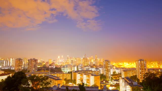 Epic sunset  Over Century City Skyline in Singapore video