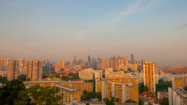 Epic sunset  Over Century City Skyline in Singapore video