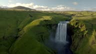 istock Epic view of Skogafoss waterfall in green Iceland landscape 1131333193