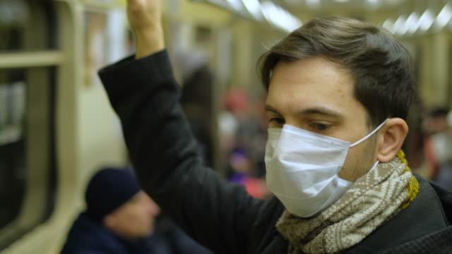 Epidemic Coronavirus. Mask Close Up. Respiratory Syndrome. People Coronavirus. video