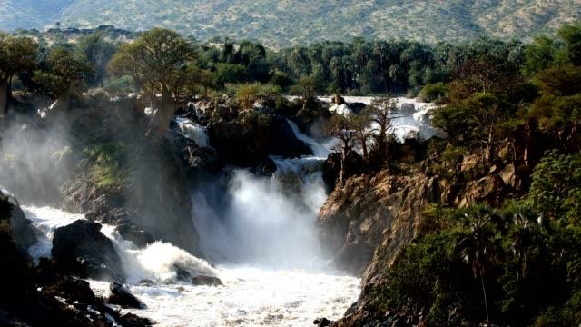 Epupa Falls on the Kunene River in Namibia video