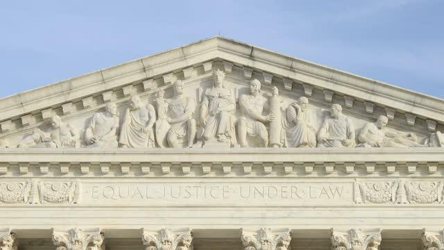 Equal Justice Under Law' inscription - West Pediment - U.S. Supreme Court - DC
