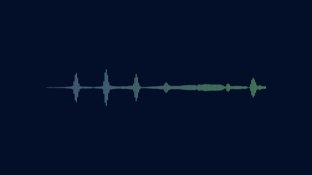 Equalizer Bars In Waveform Audio Spectrum.