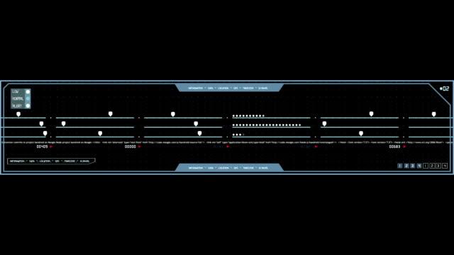 Equalizer HUD digital animated grid panel video