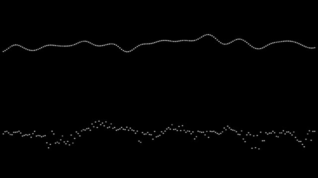 Equalizer waveform animation video