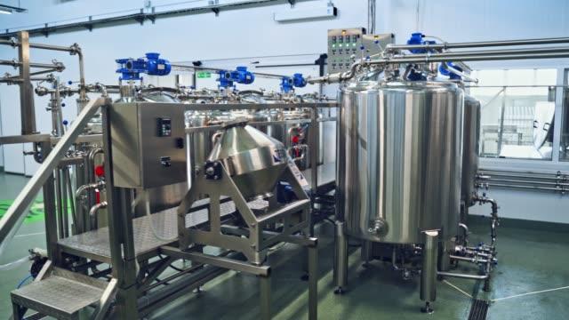 Bидео Equipment at dairy plant