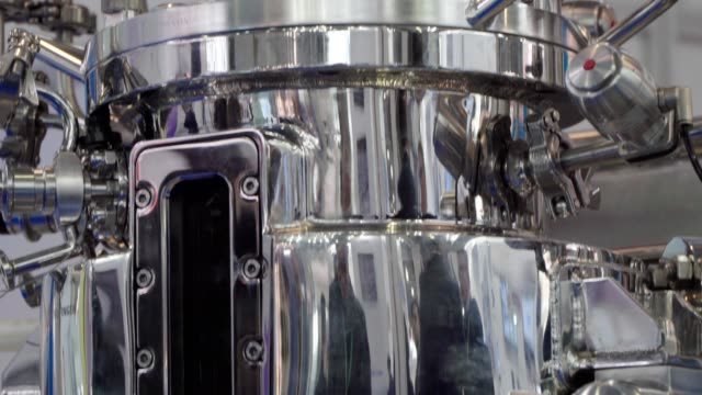 equipment for pharmaceutical and chemical industry, biotechnological and chemical reactor - fermentare video stock e b–roll