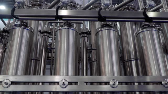 Equipment for pharmaceutical and chemical industry, water treatment plant Equipment for pharmaceutical and chemical industry, water treatment plant chlorine stock videos & royalty-free footage