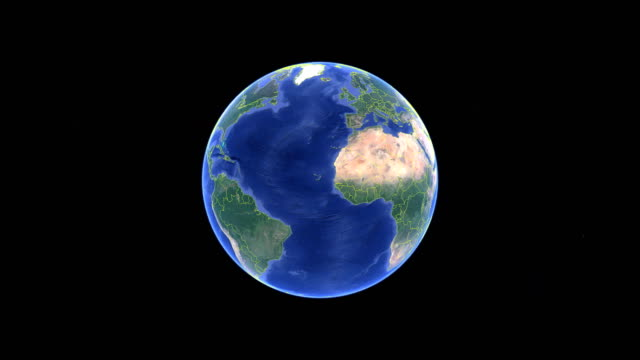Eritrea with flag. 3d earth in space - zoom in Eritrea outer Eritrea with flag. 3d earth in space - zoom in Eritrea outer, created using ultra high res NASA horn of africa stock videos & royalty-free footage