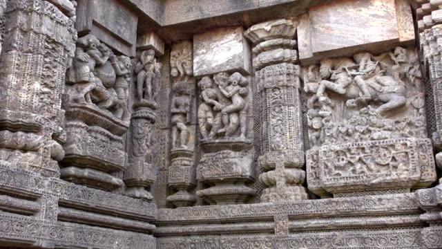 erotic  art sculptures on Konark sun temple, India