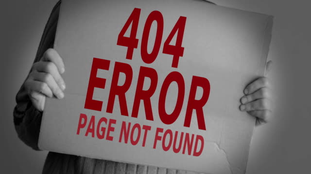 Error 404, page not found. video
