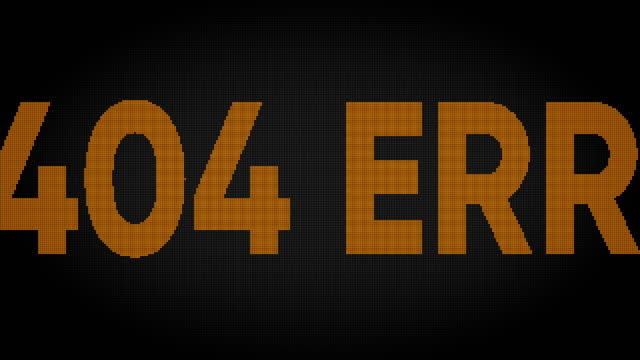 404 error led screen - communication problems stock videos & royalty-free footage