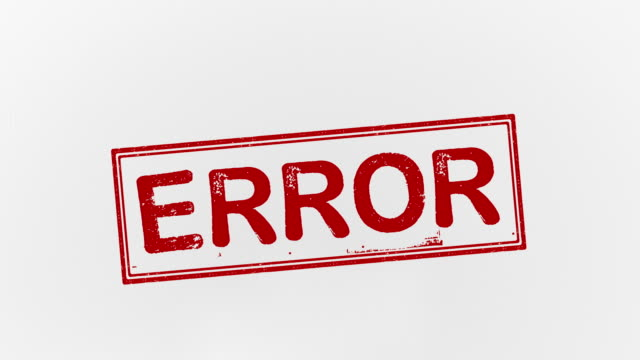 error - errore video stock e b–roll