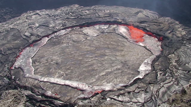 Erta Ale volcano  lava lake in action video