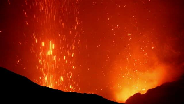 Eruption of Volcano Yasur video