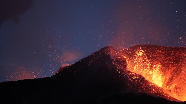 ausfall auf der eiskappe eyjafjallajökull. - vulkan stock-videos und b-roll-filmmaterial