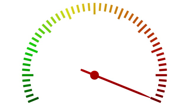 Escalation meter arrow move. video