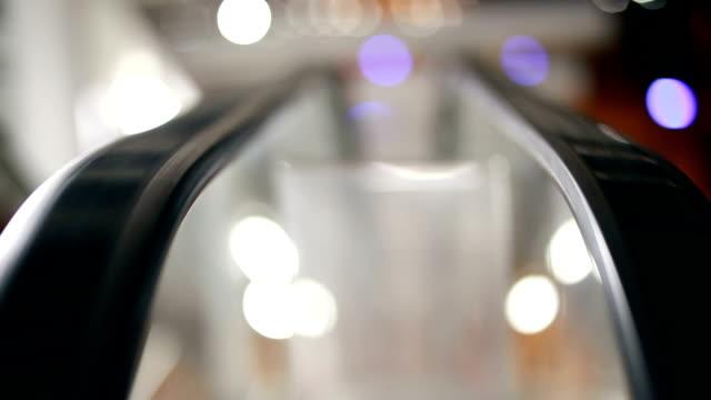 Escalator at railway station video