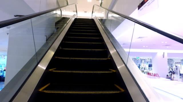 Escalator in Department Store video