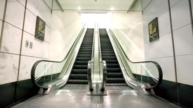 escalator in modern hall video