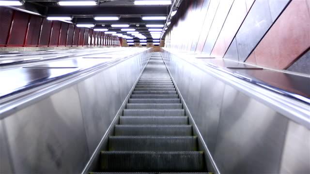 Escalator moving up video