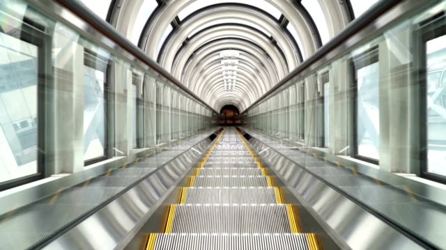 scala mobile - escalator video stock e b–roll