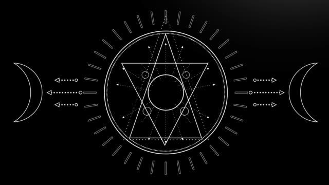 esoteric mystical symbol - spirituality stock videos & royalty-free footage