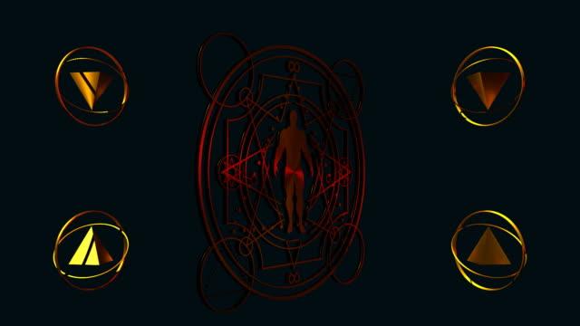 esoteriska mystiska symboler - pyramidform bildbanksvideor och videomaterial från bakom kulisserna