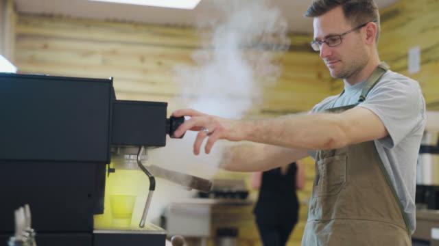 Espresso Machine Makes Steam video