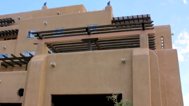 Establishing Shot of a Large Adobe Building video
