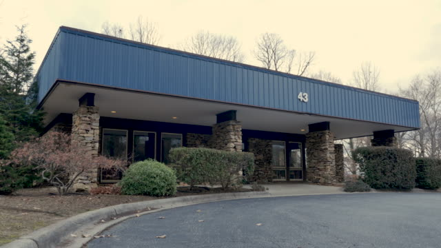 Establishing shot of a one story commercial business for a small business