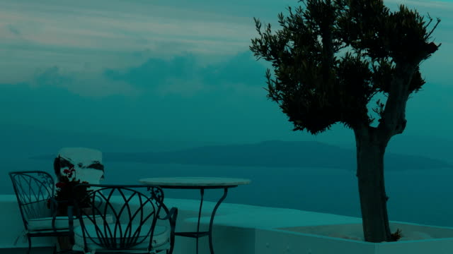 Establishing Shot of Aegean Sea and Islands from a Terrace video