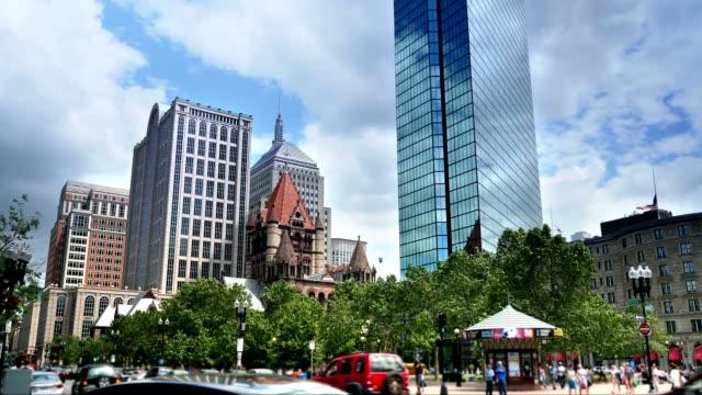 Establishing Shot of Copley Square in Boston video
