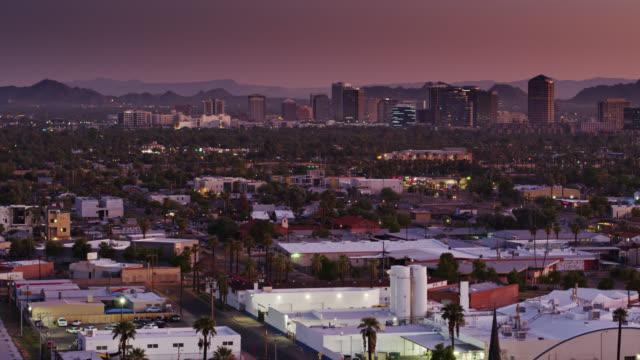Establishing Shot of Phoenix Early in the Morning