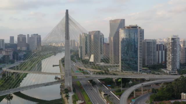estaiadabron i marginella pinheiros-floden - brasilien bildbanksvideor och videomaterial från bakom kulisserna
