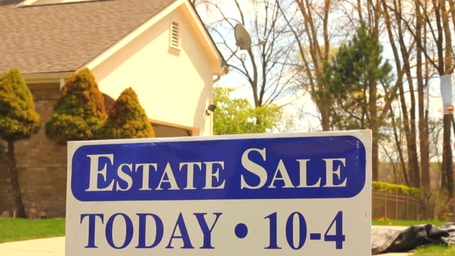 estate sale - foreclosure stock videos & royalty-free footage