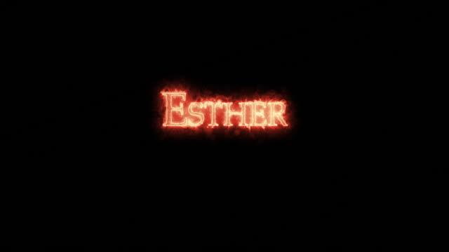 화재로 쓰여진 에스더. 루프 - ruth 스톡 비디오 및 b-롤 화면