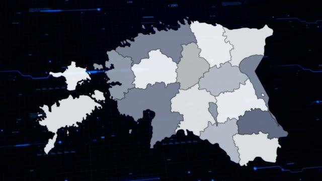 estonya ağ haritası - estonya stok videoları ve detay görüntü çekimi